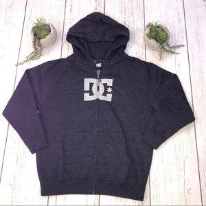 Boy's NEW DC Zip Hoodie Large Dark Gray